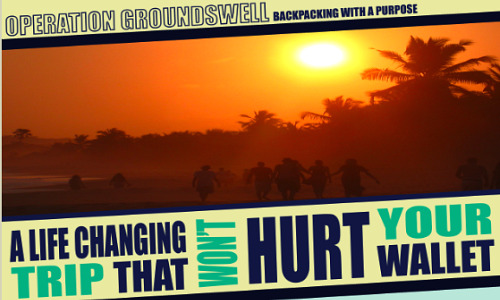 Operation Groundswell, backpacking with a purpose.
